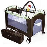 Froggy Kinderreisebett Babybett mit Schlafunterlage, Matratze,...